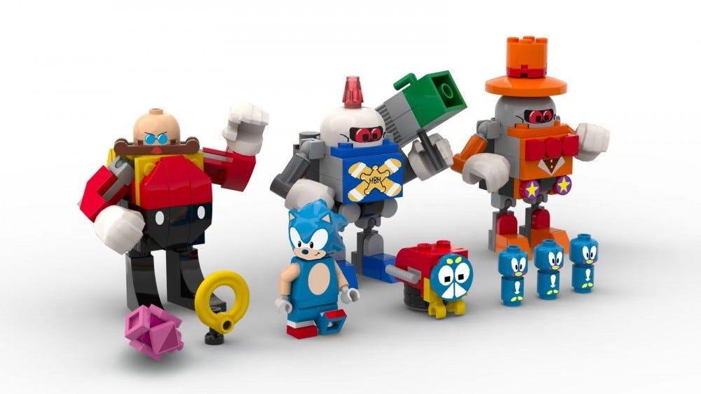 Sonic lego készlet, karakterek