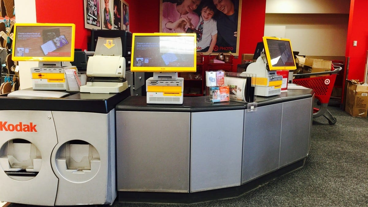 A printing kiosk at a Target store.