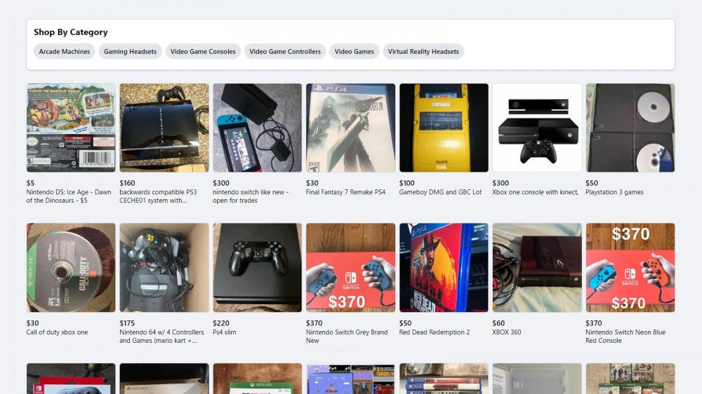 Facebook Marketplace Video Games