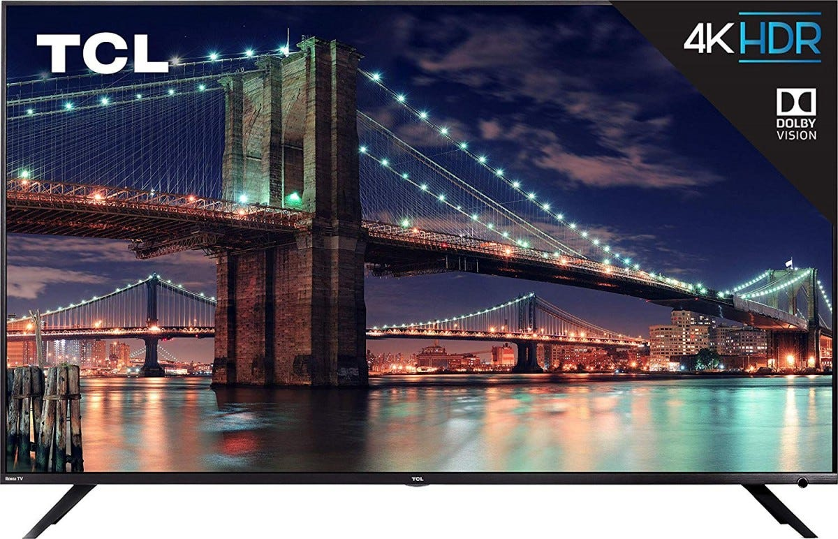 The 65-inch TCL 6 Series Roku TV.