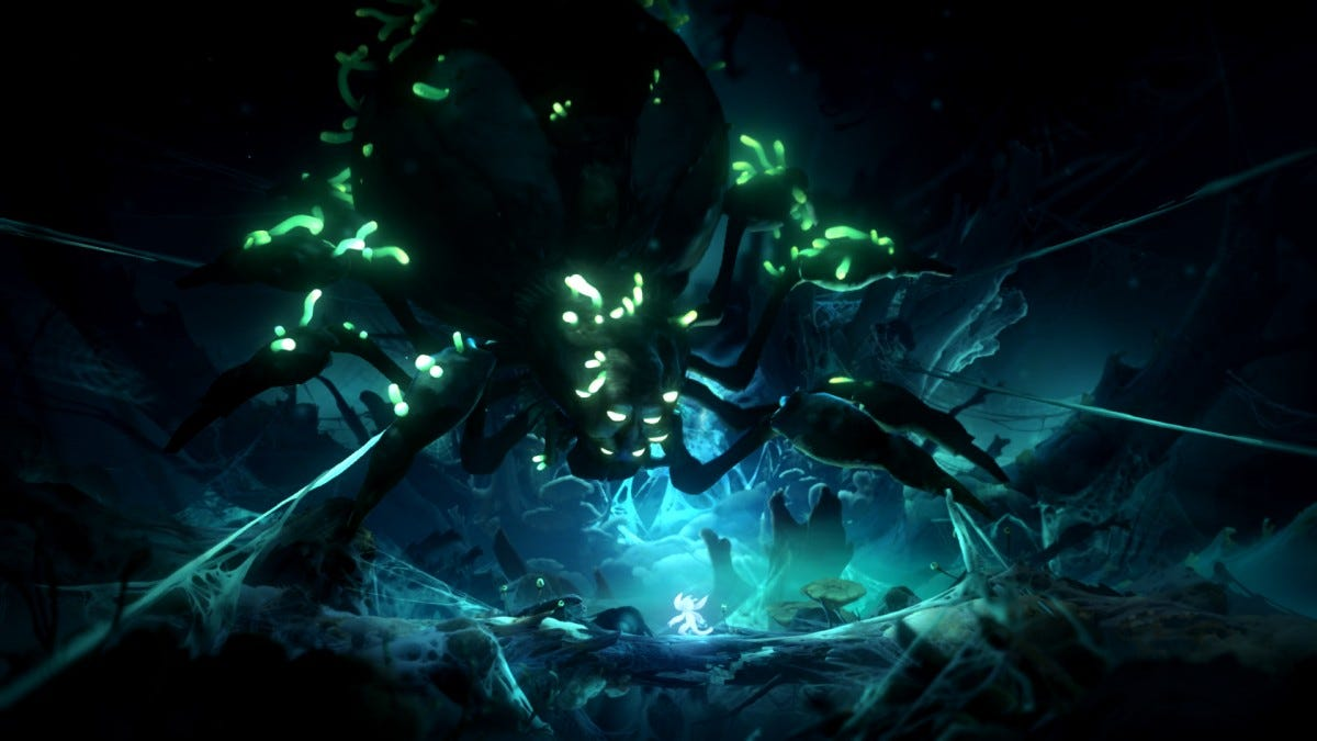 Ori and the Will of the Wisp Spider Boss