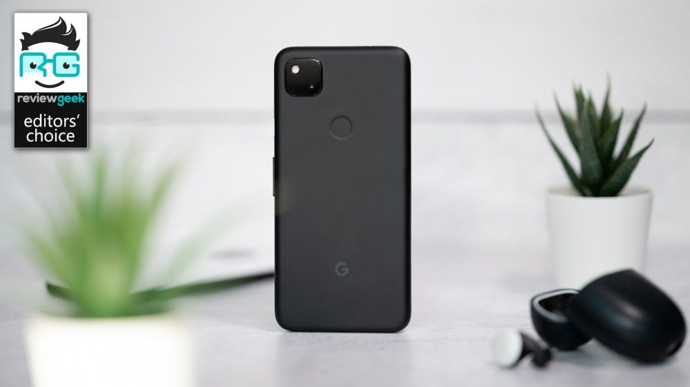 Pixel 4a, with Pixel Buds