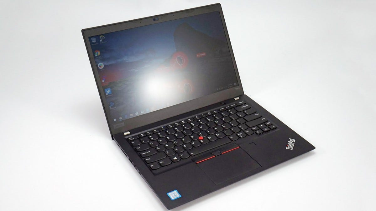 The Lenovo ThinkPad T490s.
