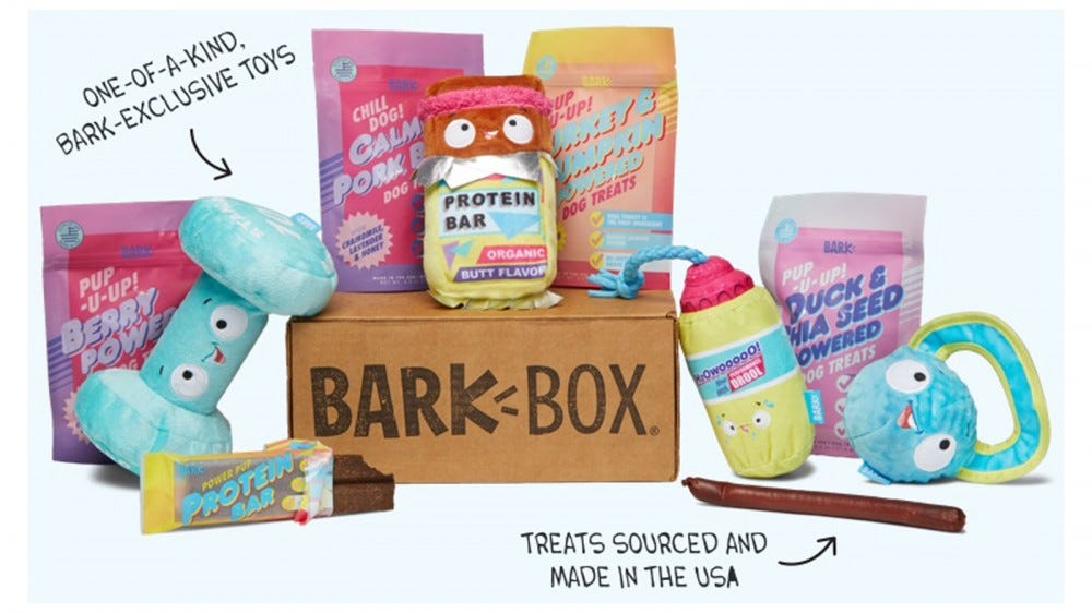 BarkBox monthly themed dog subscription box