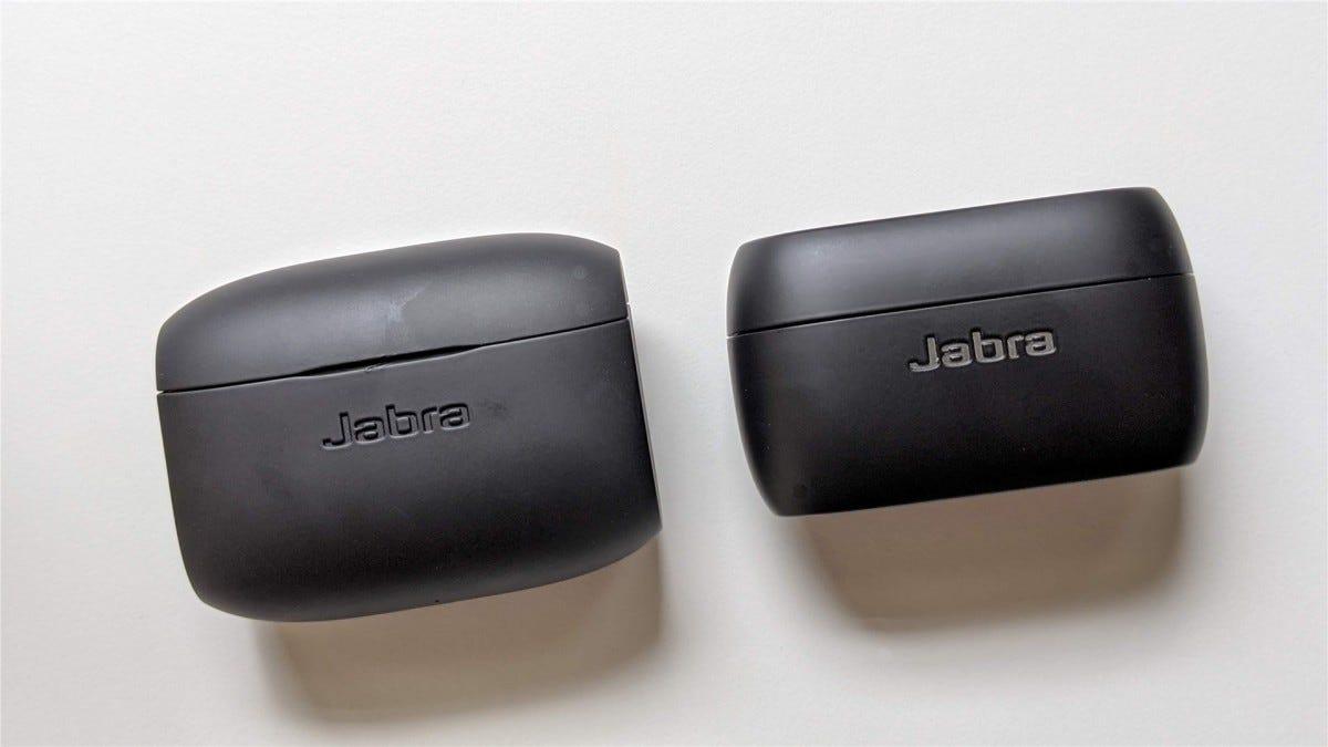 The Jabra Active Elite 65t case next to the Elite 75t