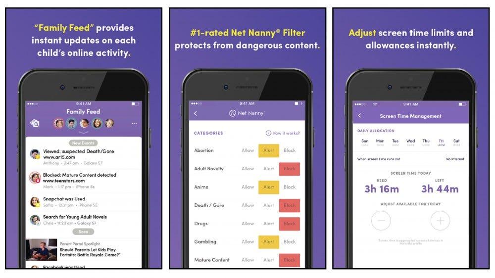 Net Nanny app screenshots