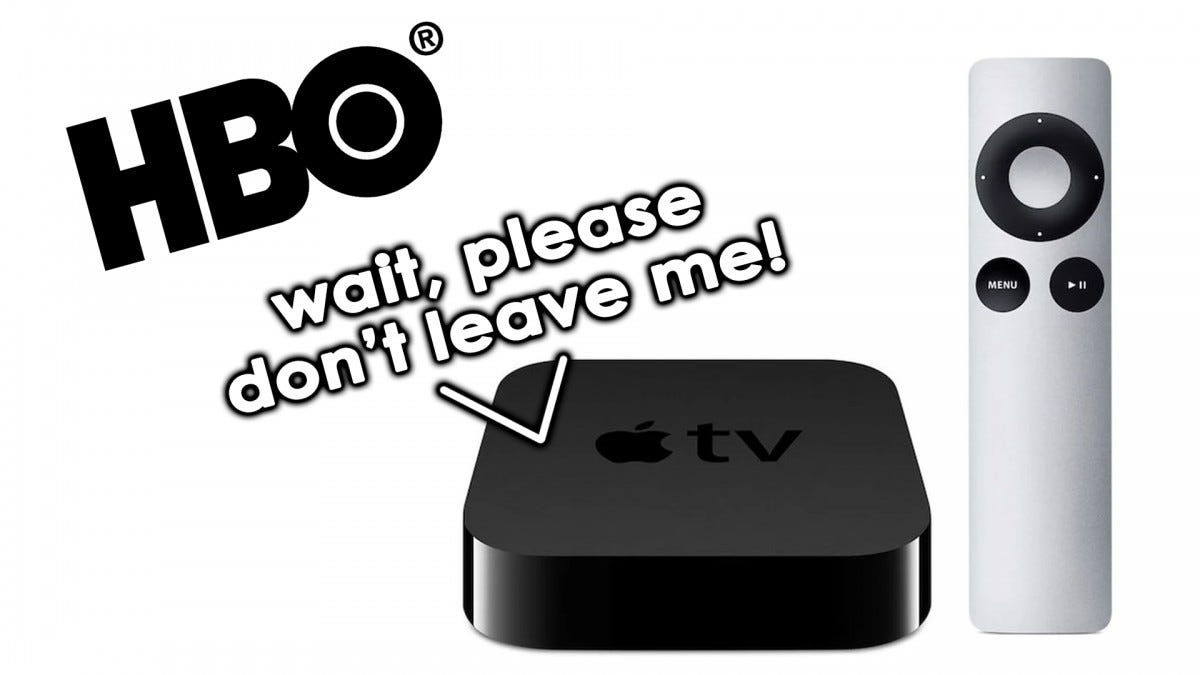 The Apple TV 2 and the HBO logo