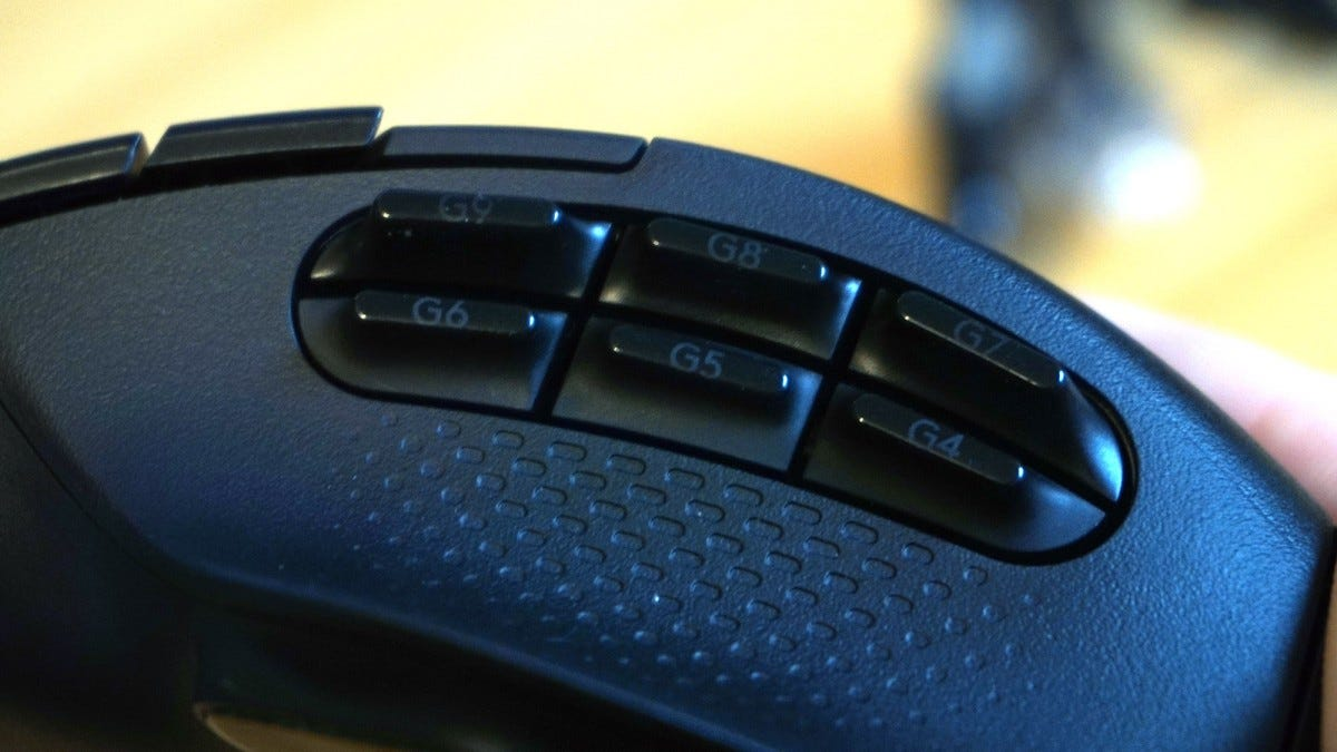 Side buttons of the G604