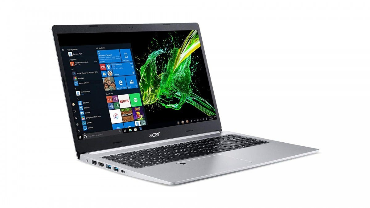 The Acer Aspire 5 Slim laptop.