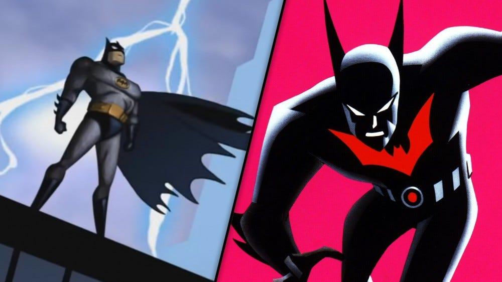 Batman and Batman Beyond promo images