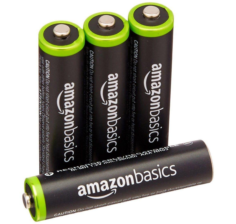 amazonbasics, rechargeable, rechargeable batteries, aaa, aa,