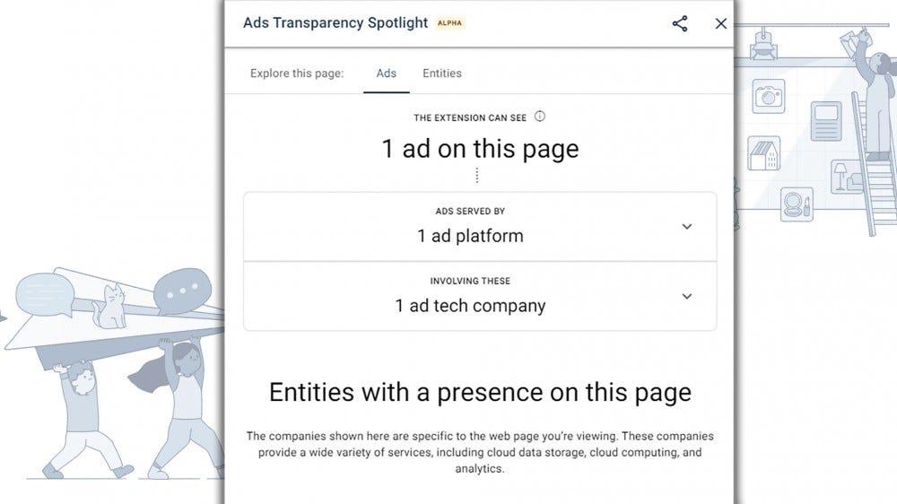 "An illustration of ""Ads Transparency Spotlight"""