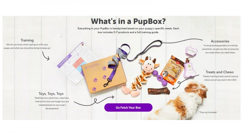 PupBox best subscription box for puppies