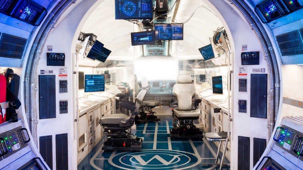 A detailed image of the engine room on the Snowpiercer