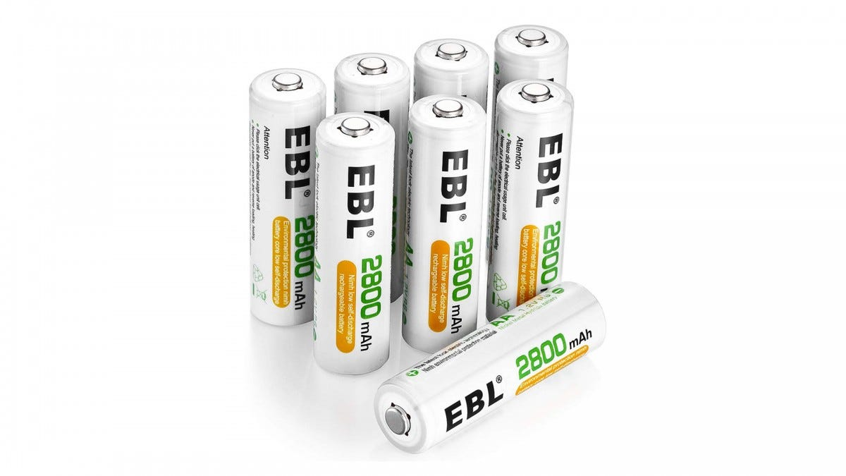 EBL rechargable AA batteries
