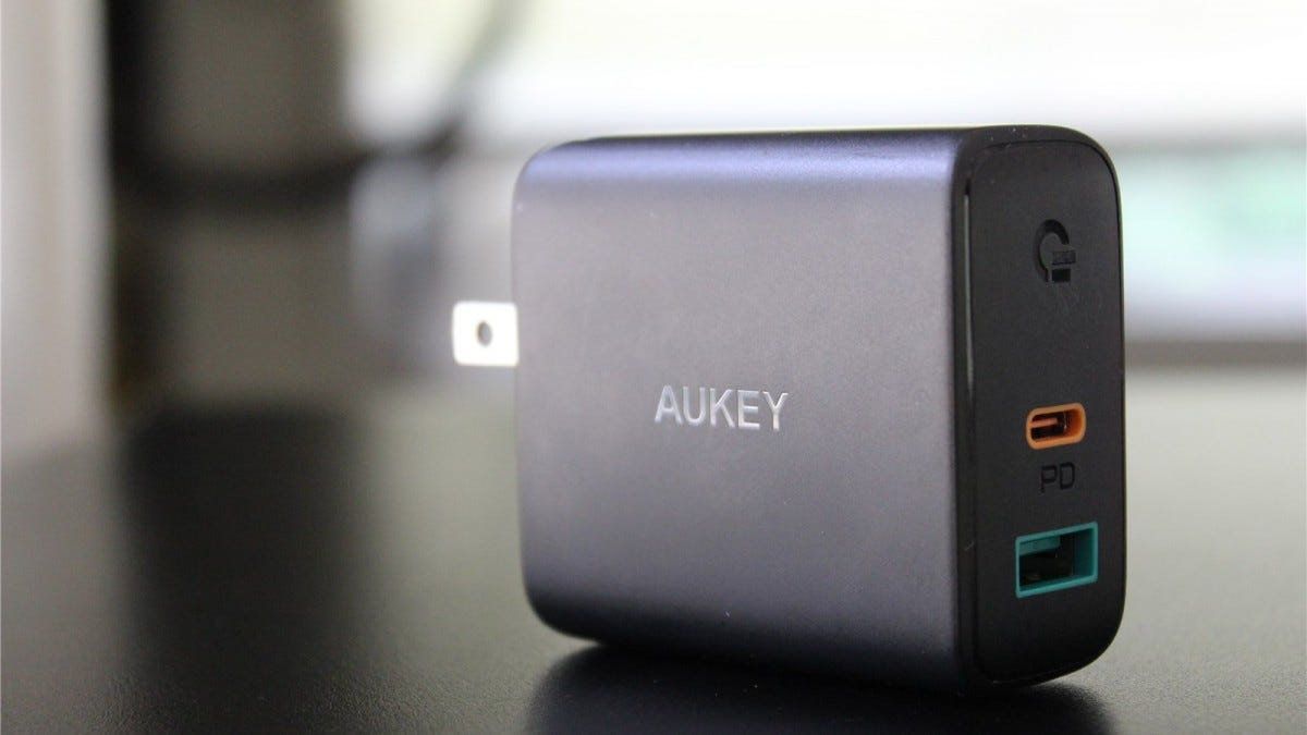 Aukey USB-C PD Charger.