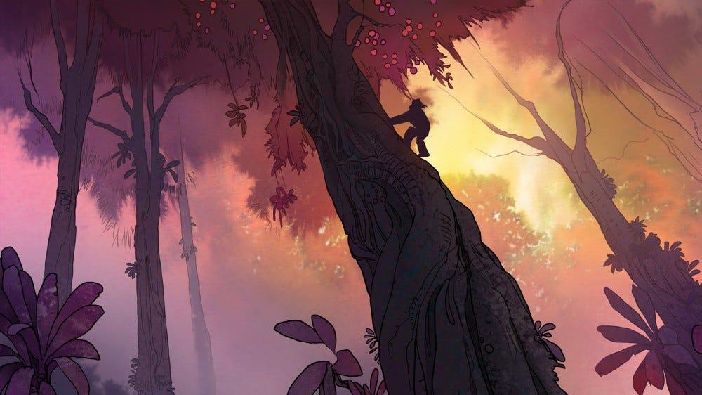 Adult Swim Primal: Spear in a tree