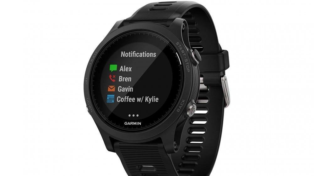 A photo of the Garmin Forerunner smartwatch.