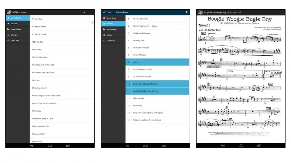 The Orpheus app for Android users