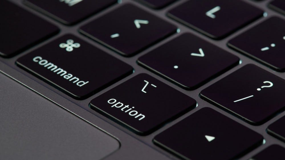 Close MacBook keyboard