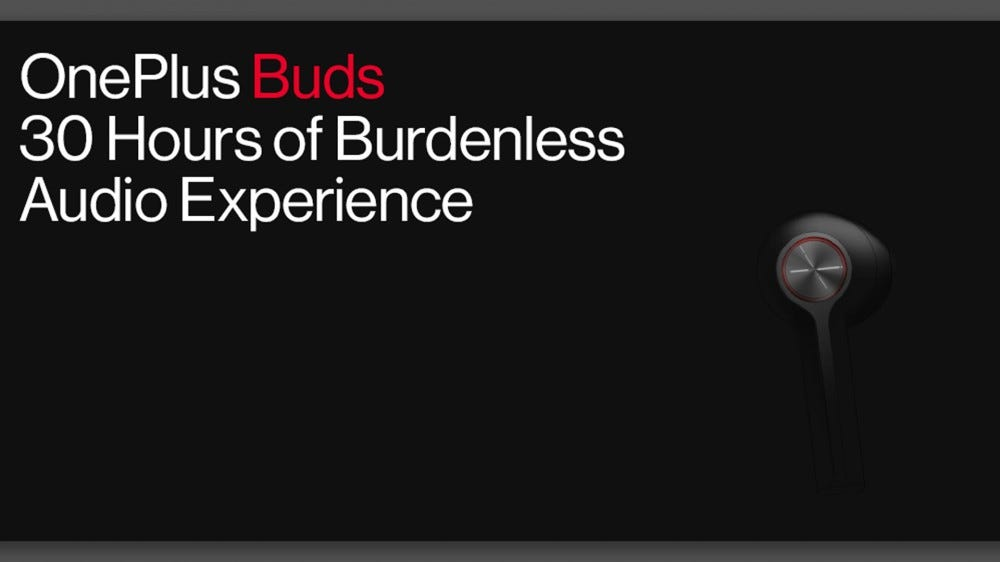 An official banner for the OnePlus Buds.