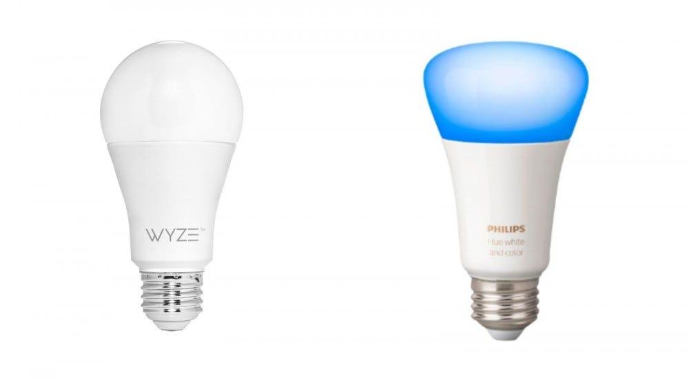 Wyze Bulbs and Phillips Hue Bulb