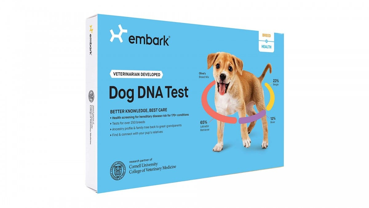 The EMBARK DNA test.