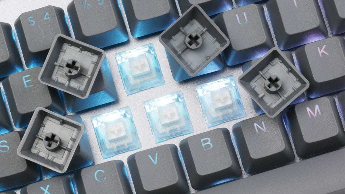 DROP CRTL Keyboard Keycaps Removed