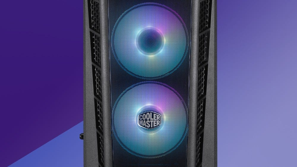 A photo of the Cooler Master Masterbox MB311L ARGB case.