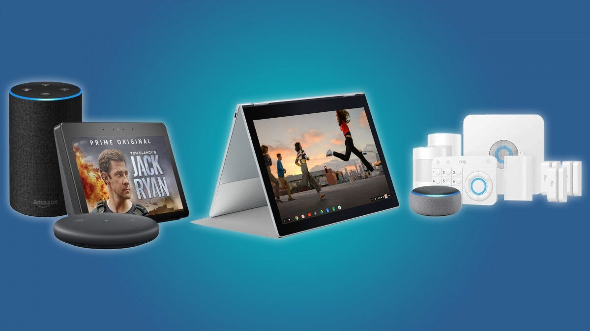 The Echo Plus, Look, and Input, the Google Pixelbook, and the Ring Security Kit