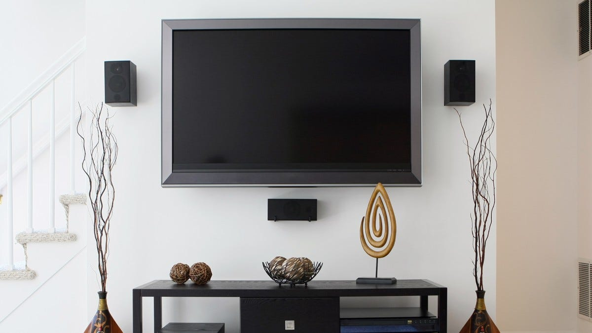 A pretty minimal media center. Maybe this person should skip the universal remote.