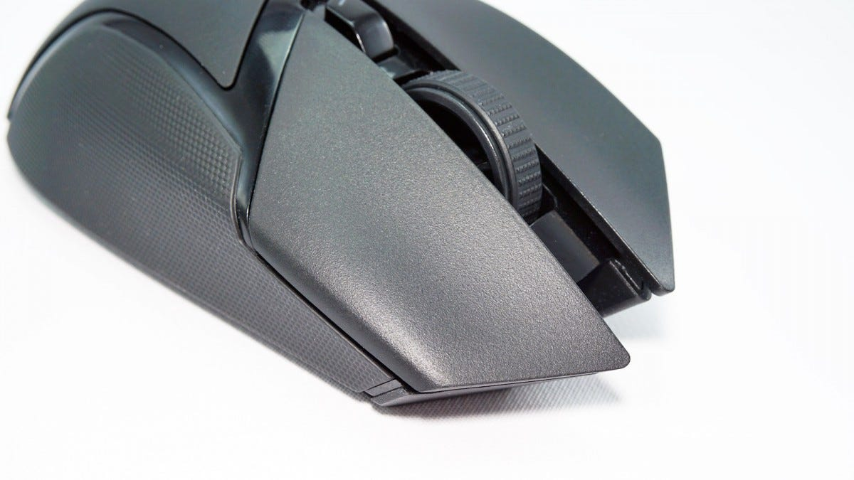 The front of the mouse.