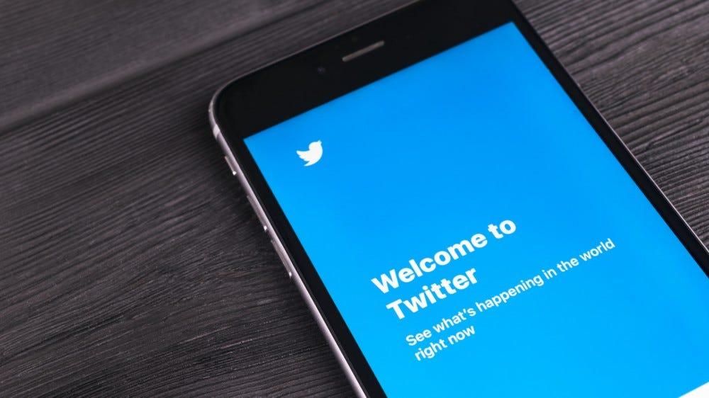 The Twitter app running on an iPhone