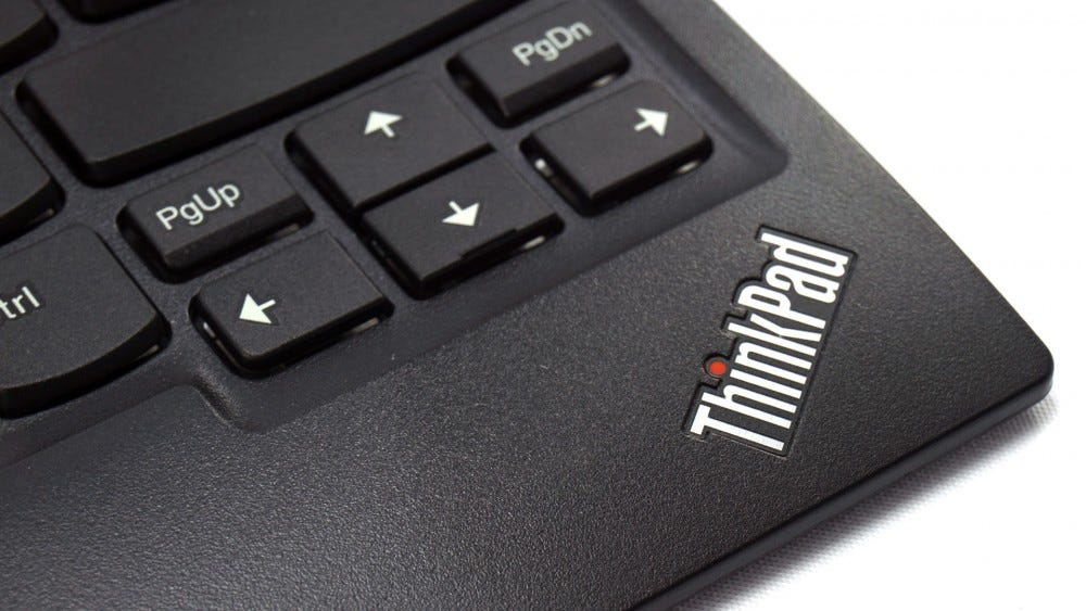 ThinkPad logo on keyboard