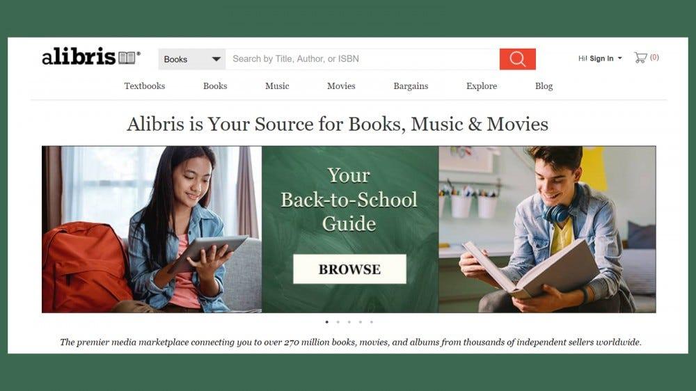 Az Alibris nagyszerű könyvesbolt nehezen megtalálható könyvek vásárlásához