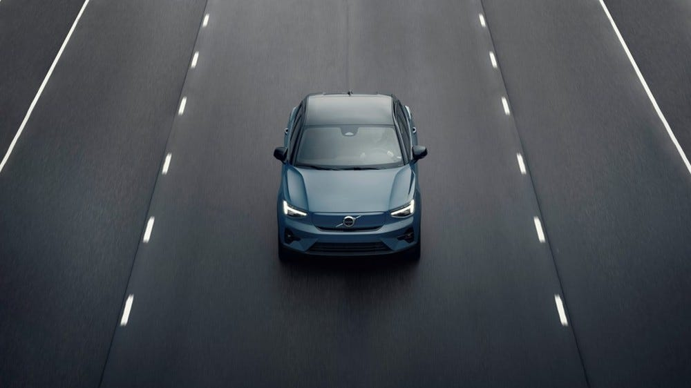The electric car Volvo C40.