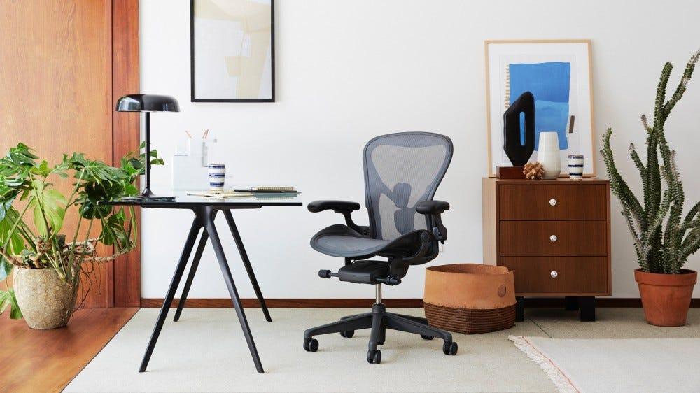 Herman Miller office chair in modern light office