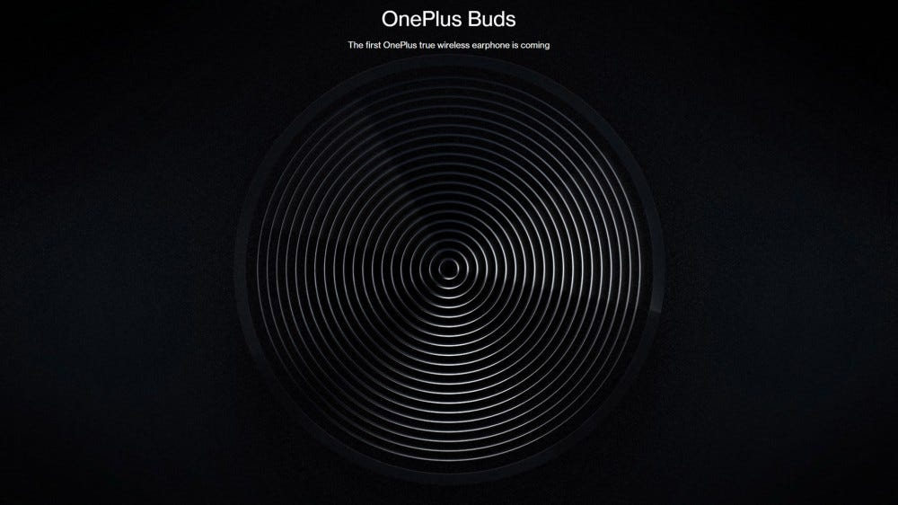 Screenshot of OnePlus website with earbud