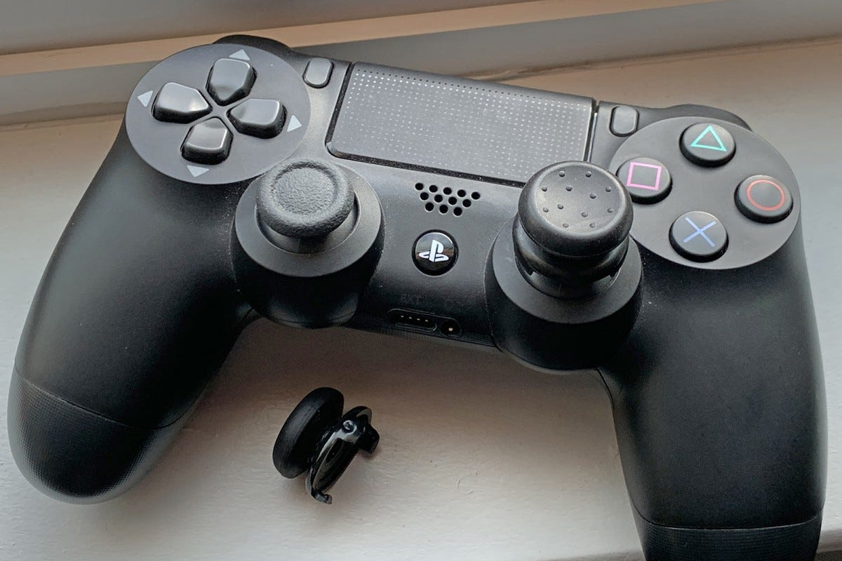 KontrolFreek performance thumbsticks on the DualShock 4