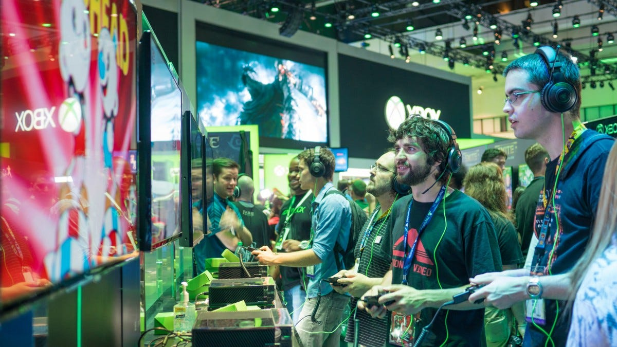 the Xbox booth at e3