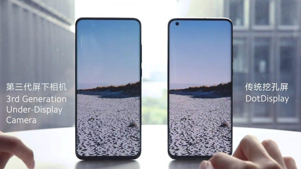 Xiaomi's under-display camera