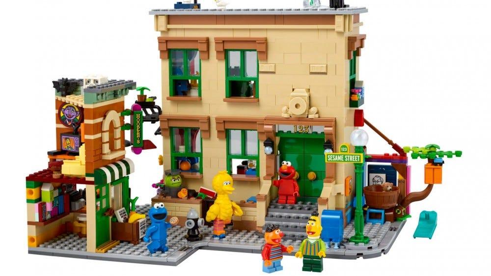 123 Sesame Street lego set