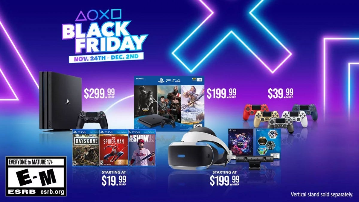Sony's Black Friday bundles.