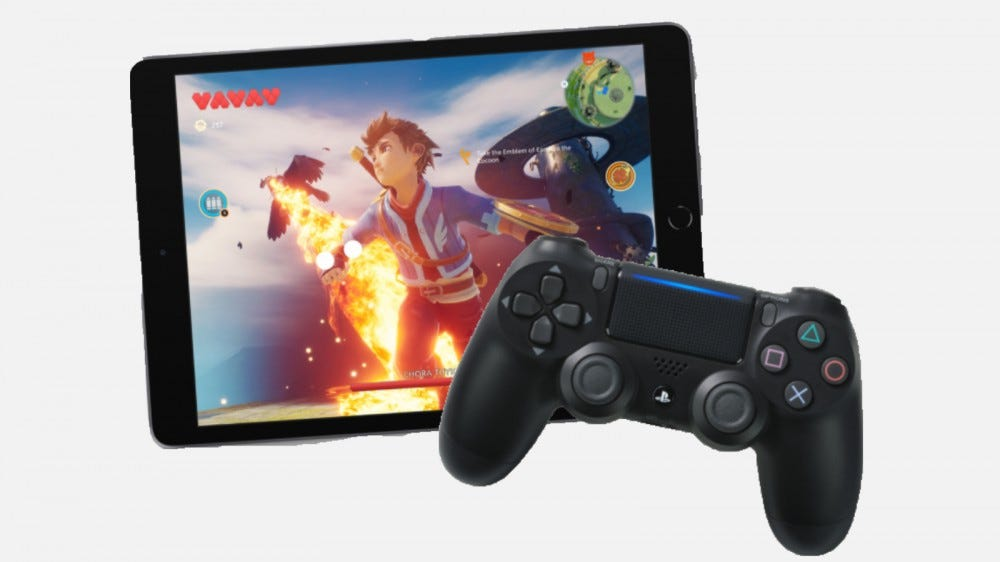 iPad with PS4 controls