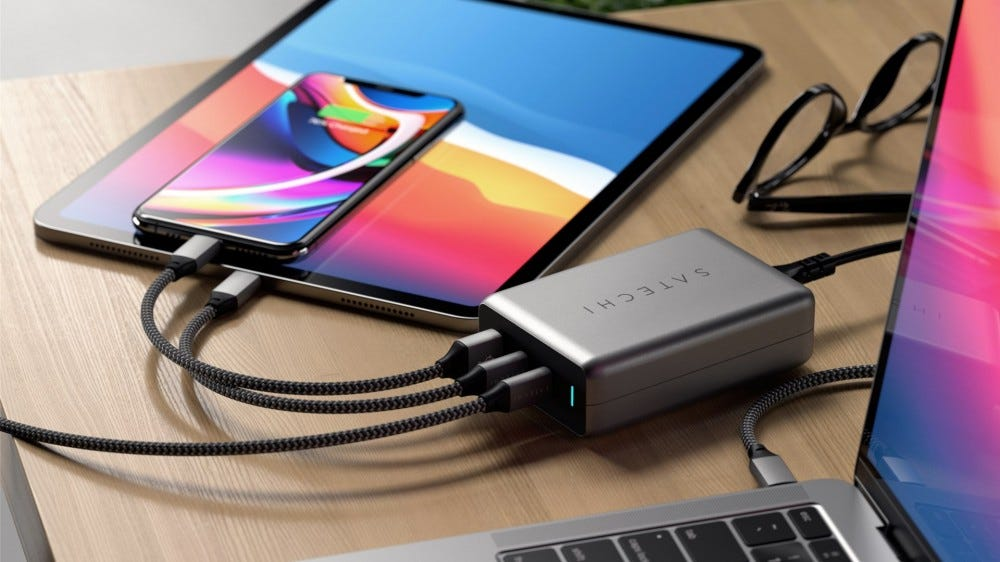 Satechi 100W dual USB-C PD GaN charger