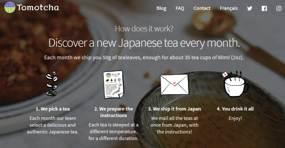 Tomotcha tea subscription box Japanese tea roasted tea Japanese tea ceremony