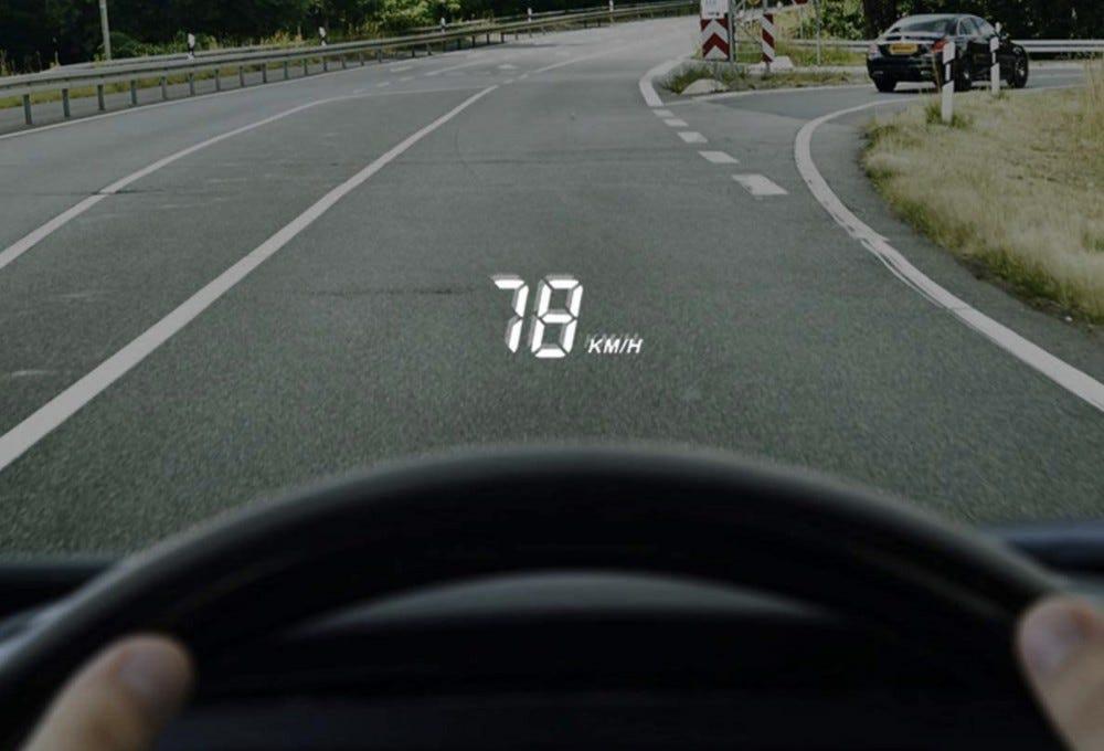 HUD screen car
