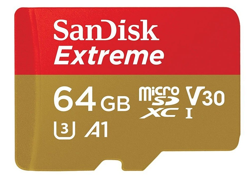 sandisk, sandisk extreme, microsd, camera card, drone card,