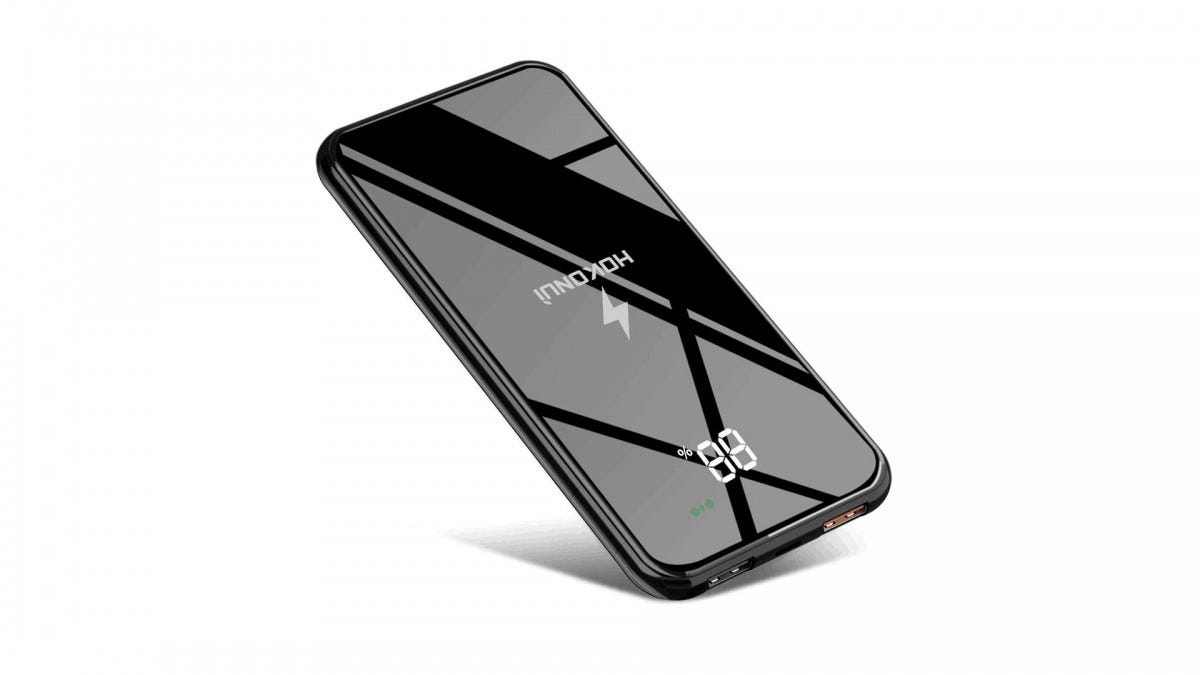 The HOKONUI wireless charging portable power bank.