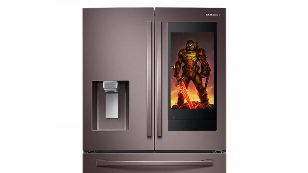 Doom Artwork on a Samsung Smart Fridge.